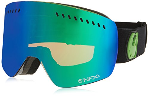 Dragon Alliance NFXS Ski Goggles, Jet/Green Ion + Yellow Blue - Dragon Goggles Nfx