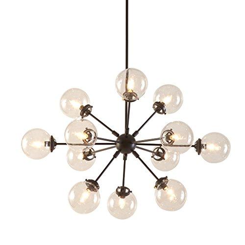 - Ink+Ivy 12 Lights Oversized Bulb Sputnik Chandelier Antique Bronze Finish Modern Dining Room Pendant Lighting Ul Certified