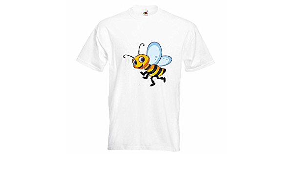 T-Shirt Camiseta Remera Abeja Feliz Wasp Wasp Miel Doblar ...