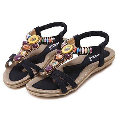 Noir Fschooly Confort Bottes Chaussures Femme cuir Pour Uk6 Et Nouveaut Amande Sandales Mariage Us8 Dcontract Cn39 Simili Printemps Plat Eu39 BBZqpw