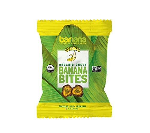 Barnana Organic Chewy Banana Bites - Original, 1.4 Ounce - Healthy Vegan Banana Fruit Snacks - Made with Sustainable, Eco Friendly Upcycled Bananas