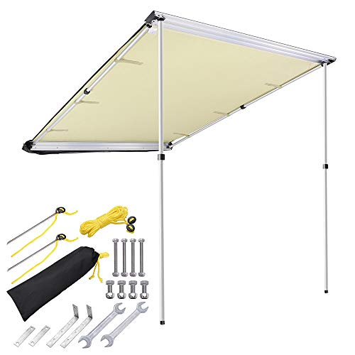 - Yescom 4.6x6.6' Car Side Awning Rooftop Pull Out Tent Shelter PU2000mm UV50+ Shade SUV Outdoor Camping Travel Beige