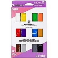 Polyform PEVM-C-12 Premo Set- Sampler- Classics- 12 Bars X 1oz Polymer Clay Accessory, Pack of 12