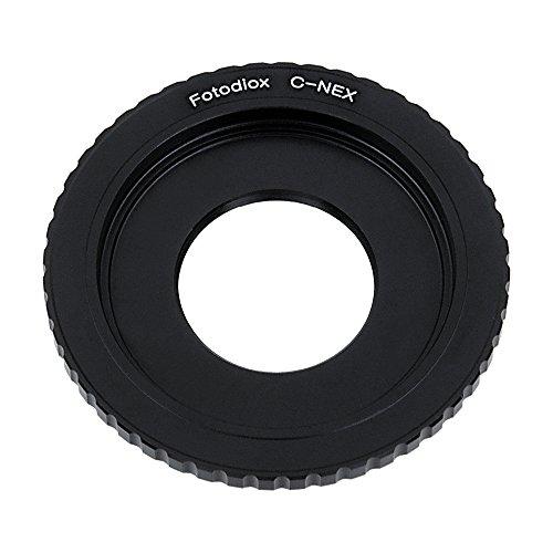Fotodiox Lens Mount Adapter - C-Mount CCTV/Cine Lens to Sony Alpha E-Mount Mirrorless Camera Body