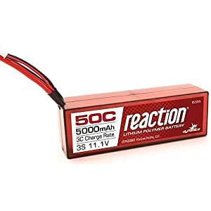 Reaction 11.1V 5000mAh 3S 50C LiPo, Hardcase: EC3 by Dynamite