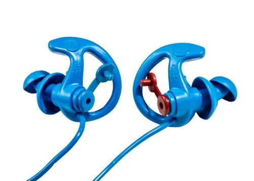 efenders Cobalt filtered Metal Detectable Earplugs, double flanged design, reusable, Medium ()