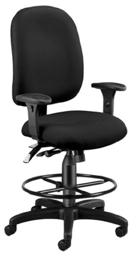 OFM 125-DK-805 Ergonomic Task Chair with Drafting Kit by OFM
