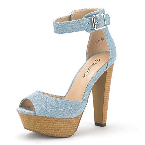 Blue Platform Heels: Amazon.com