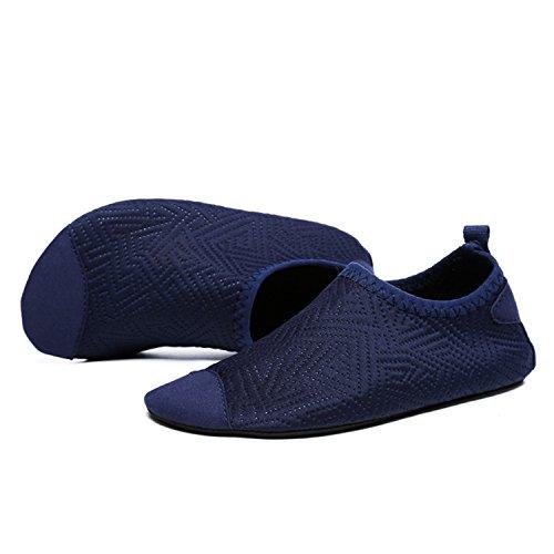 L de Run Niños Natación Agua Guantes Barefoot Aqua Calcetines para navegar por Beach Pool Yoga Dot_navy