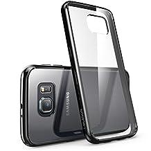 Galaxy S6 Case, [Scratch Resistant] i-Blason **Clear** [Halo Series] Samsung Galaxy S6 Hybrid Bumper Case Cover (Clear/Black)