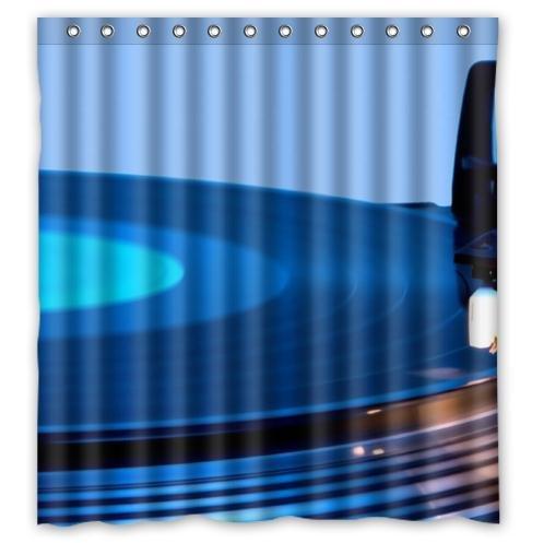 Disco de vinilo Tocadiscos Tejido impermeable baño cortina de ...