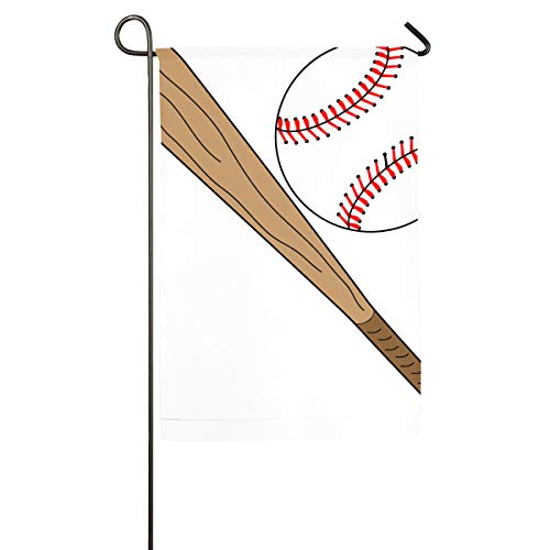 (FengShengZX Baseball Bat.png Outdoor Polyester Garden Flag House Banner Two Sided Welcome Yard Decoration Flag for Wedding Party Home Decor Sport)