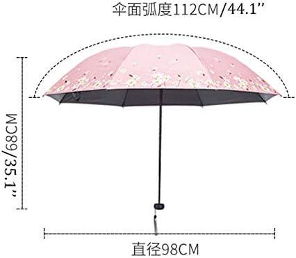 Color : Blue XIAOLI Umbrella Compact Travel Umbrella Mini UV Protection Umbrella Lightweight Mini Travel Umbrella Compact Small Folding Umbrella Rain Windproof Umbrella