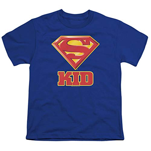 Superman Super Kid DC Comics Youth T Shirt & Exclusive Stickers ()