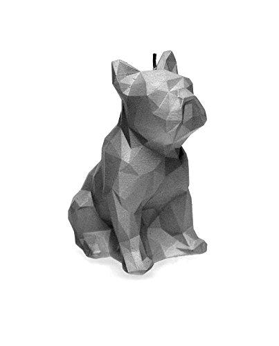 Candellana Candles Candellana-Bulldog Poly Candle-Steel, Large (Dog Skeleton Candle)