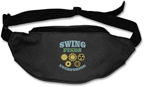 Swing Fixes Everythingエンジニアユニセックスアウトドアファニーパックバッグベルトバッグスポーツウエストパック