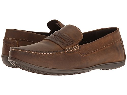 Rockport Men's Bayley Penny Shoe, Camel Leather, 11 M (Rockport Driving Shoes)
