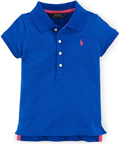 Price comparison product image Ralph Lauren Little Girls' Tennis Tail Polo Shirt (4\4T, Pacific Royal)