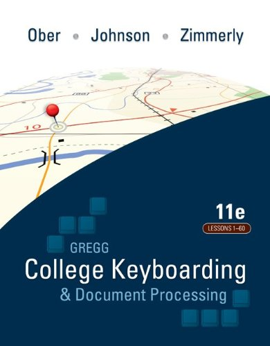 Price comparison product image Gregg College Keyboarding & Document Processing: Lessons 1-60