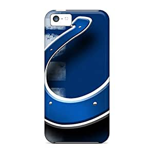 LJF phone case Iphone 5c Case Bumper Tpu Skin Cover For Indianapolis Colts Accessories