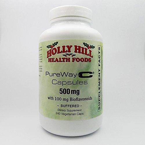 Holly Hill Health Foods, PureWay-C 500 MG with 100 MG Bioflavonoids, Buffered, 240 Vegetarian Capsules (Vitamin C Ester Vs L Ascorbic Acid)