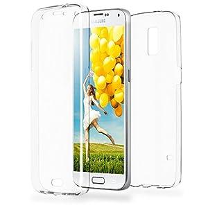 COPHONE® Funda Samsung Galaxy S5, Transparente Silicona 360°Full Body Fundas para Samsung Galaxy S5 Carcasa Silicona Funda Case. 21