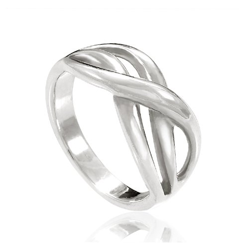 925 Sterling Silver Double Infinity Together Forever Ring - Nickel Free Size - Together Forever Rings