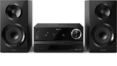 Philips BM60B/10 kabellose Multiroom Power-Stereoanlage (izzy System, Bluetooth, CD, UKW, USB, 130 Watt) schwarz