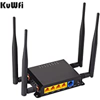 KuWFi 300Mbps 3G 4G Car WiFi Wireless Router Extender strong signal OpenWRT Car WIFI Router with USB Port SIM Card Slot with External antenna for USA/Canada/Mexico sim card network 700/1700mhz