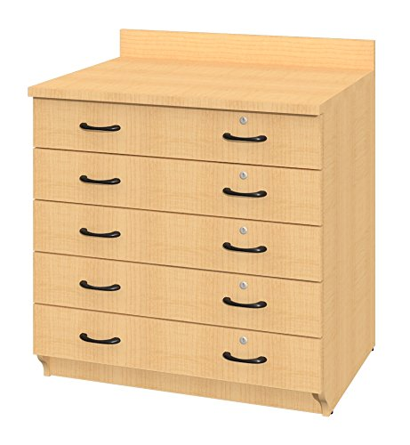 Fleetwood 72566.668.850×0-olcrry Illusions Base Drawer Cabinet with 5 Non-Locking Drawers in Oiled Cherry Laminate