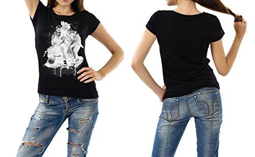 Basketball_I schwarzes modernes Damen / Frauen T-Shirt mit stylischen Aufdruck