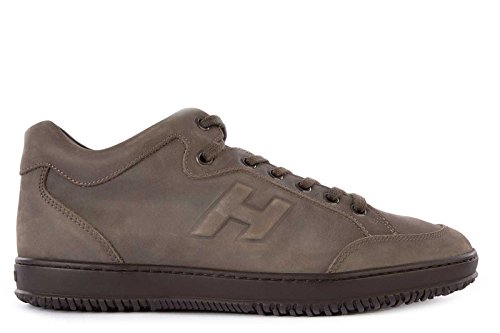 Hogan chaussures baskets sneakers homme en cuir h168 marron