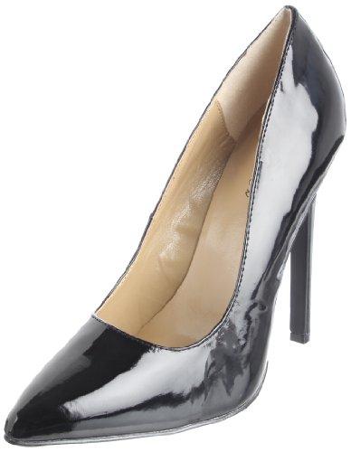 The Highest Heel Women's Hottie Stiletto,Black Patent,9 M
