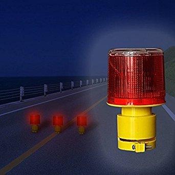 Bazaar Solar Powered Traffic Warning Light LED Safety Signal Beacon Emergency Alarm Lamp ()