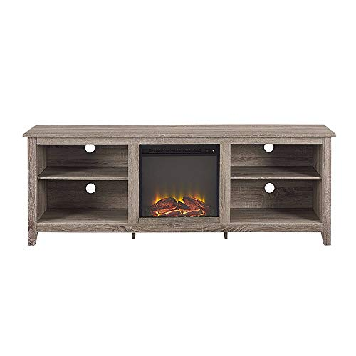 Cheap Thaweesuk Shop Driftwood TV Stand Media Fireplace Electric Heater Choose Color for TVS up to 75