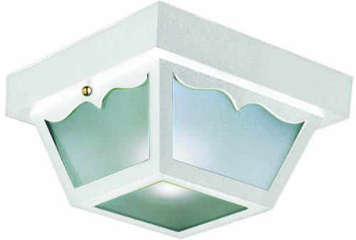White Outdoor Ceiling Light