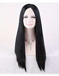 Cool2day® Cosplay 63cm Long Straight Black Hair No Bangs Women's Party Wig JF011662