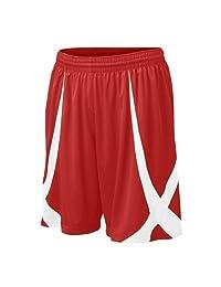 TOPTIE Youth Basketball Shorts, Viscose Knit, No Pockets