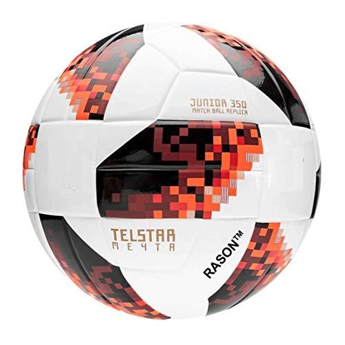 RASON Telestar Rubber Football, Size 5,  Red