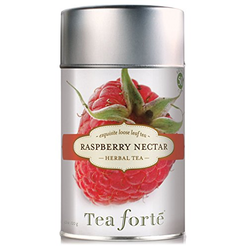 Tea Forte RASPBERRY NECTAR Loose Leaf Herbal Tea 3.88 Ounce Tea Tin Manufacturer: Tea Forte