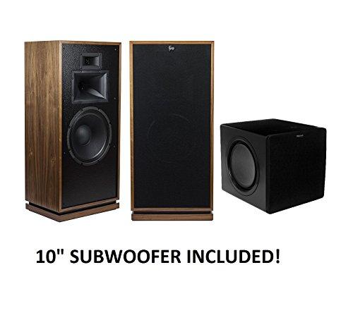 Klipsch Forte III Heritage Series Speakers (Walnut) with Klipsch SW-311 Subwoofer Package