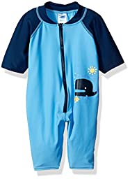 i play. Baby One Piece Swim Sunsuit Blue Whale, 18 Months
