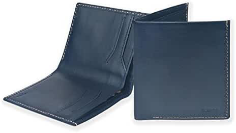 Mens Bilfold Slim Wallet , Ikepod High Line Wallet [Full-grain Leather] RFID Blocking [Slim Stitching!]