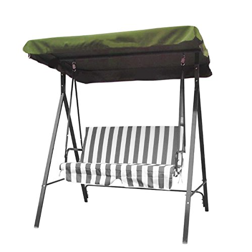 dDanke Waterproof Garden Swing Chair Replacement Canopy Cover (2 Seater or 3 Seater Available)