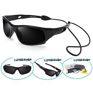 VATTER TR90 Unbreakable Polarized Sport Sunglasses For Kids Boys Girls Youth 816blackblack