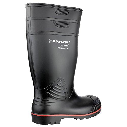 Dunlop A442631 S5 ACIF.Knie Unisex-Erwachsene Langschaft Gummistiefel Schwarz