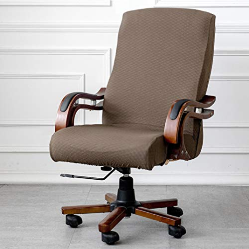US-WEE Jacquard Cotton Office Chair Cover Computer Elastic Armchair Slipcovers Washable Stretch Rotating Lift Seat Case