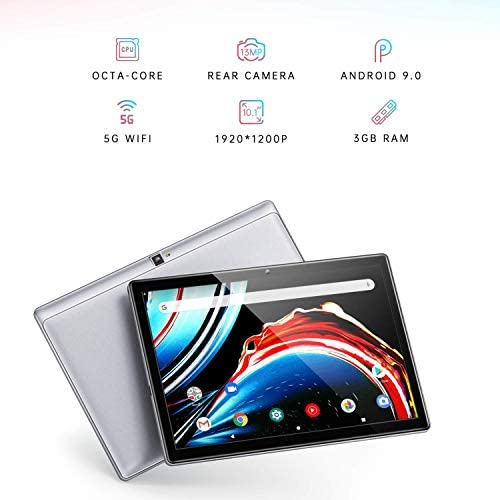 VANKYO MatrixPad S30 10 inch Octa-Core Tablet, 3GB RAM, 32GB Storage, 1080P Full HD Display, Android 9.0 Pie, 13MP Rear Camera, Bluetooth 5.0, 5G Wi-Fi, GPS, Silver