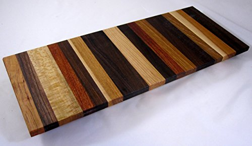 Cheese board platter Charcuterie board #A84 with Cherry, White Oak, Red Oak, Walnut and Others