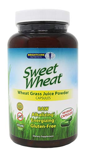 Brightcore Sweet Wheat Organic Wheat Grass Juice Powder, 180 Capsules ()